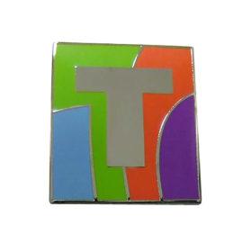 Luxe pin voor gemeente Tilburg, uitgevoerd in imitatie hard email