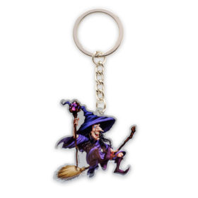 Full color sleutelhanger 'Witch'