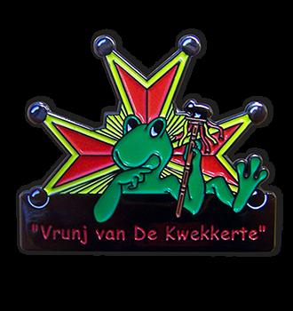 Carnaval pin uitgevoerd in zacht email